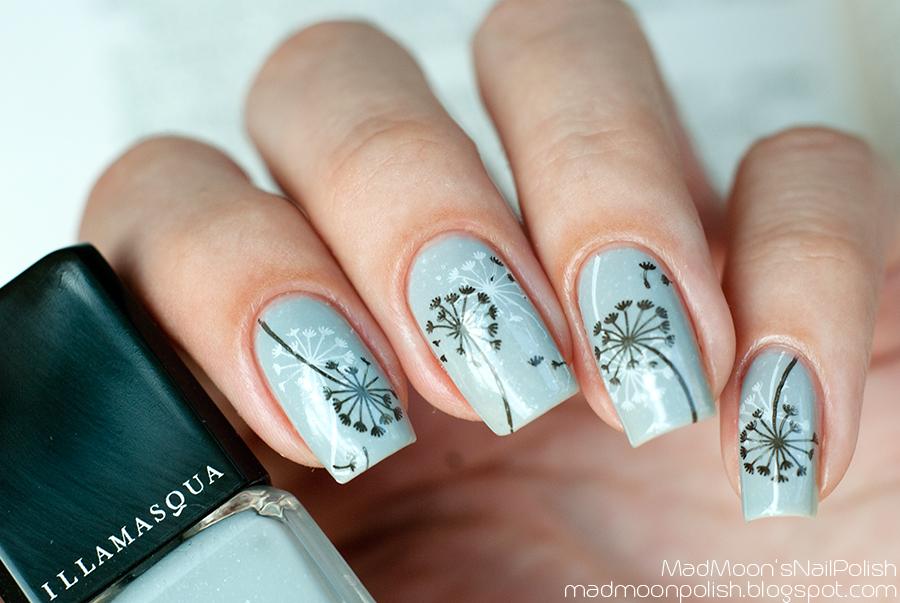 Stamping art: Illamasqua Raindrops + Nailz Craze NC01