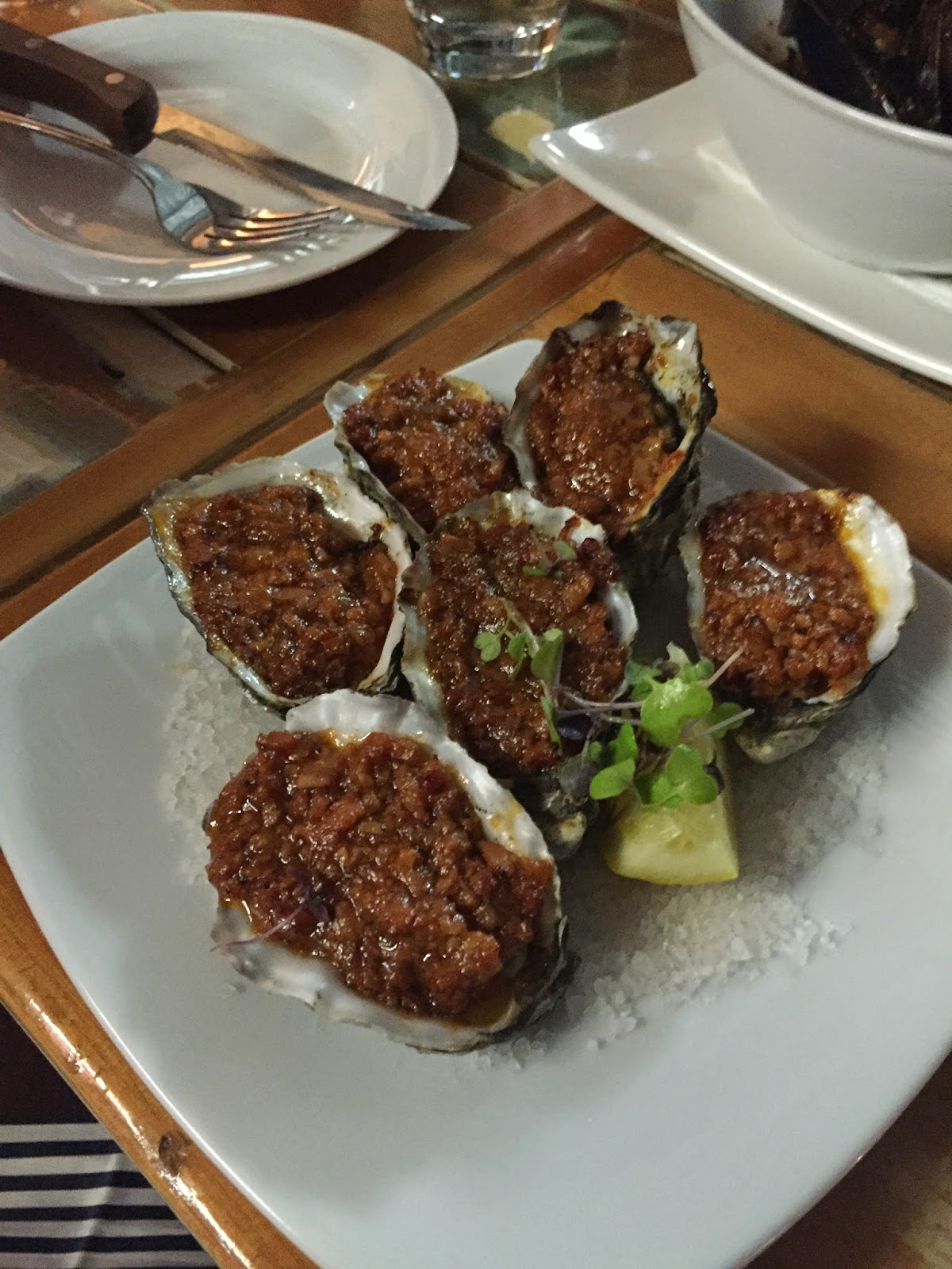 Oysters Kilpatrick London Porterhouse Cassie Cakes