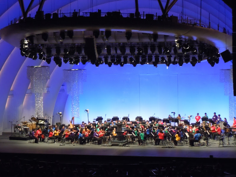 Hollywood Bowl opening night school orchestras