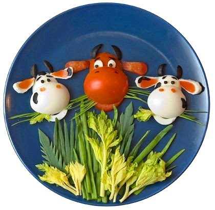 Карвинг Кравичка - декорация на храна за деца