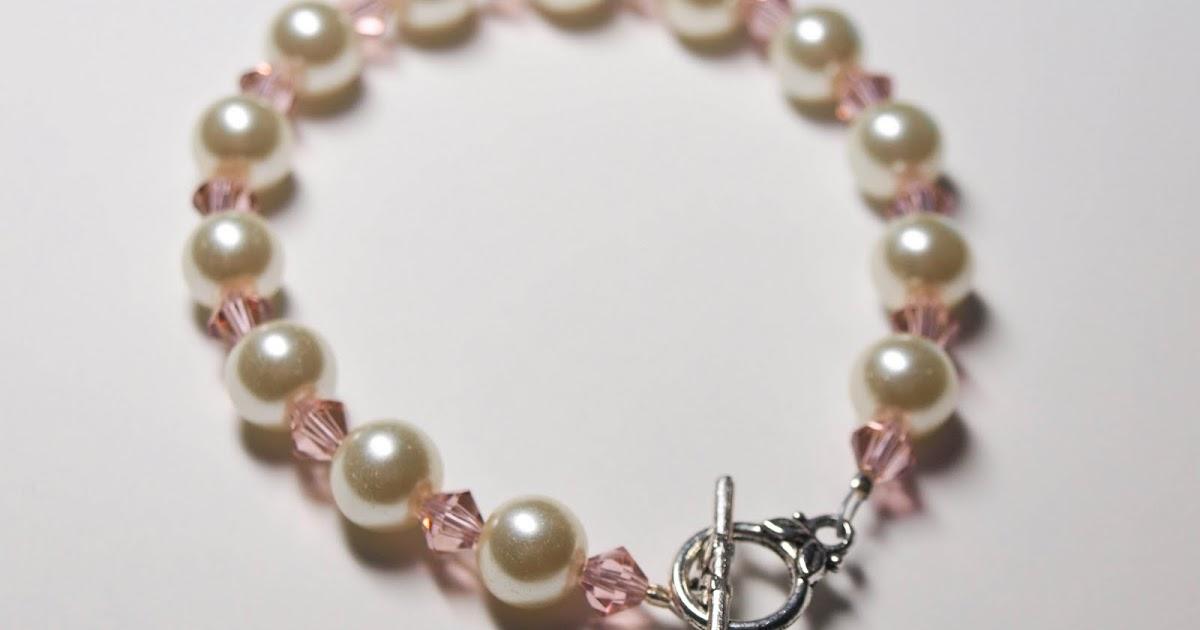 Cook~Love~Craft: DIY Glass Pearl and Swarovski Crystal Bracelet