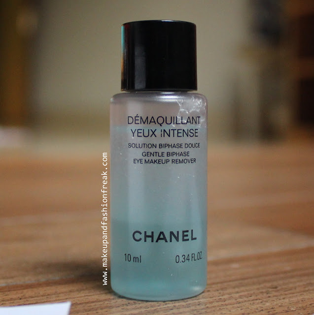Chanel Gentle Biphase Eye Makeup Remover.
