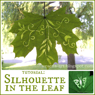 Silhouette in Leaf  wesens-art.blogspot.com