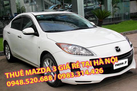 cần thuê xe Mazda 3