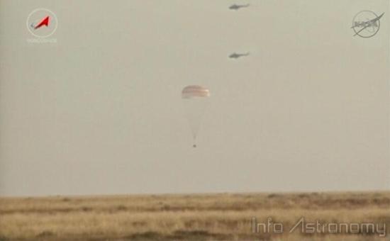 Tiga Astronot ISS Pulang ke Bumi dengan Selamat
