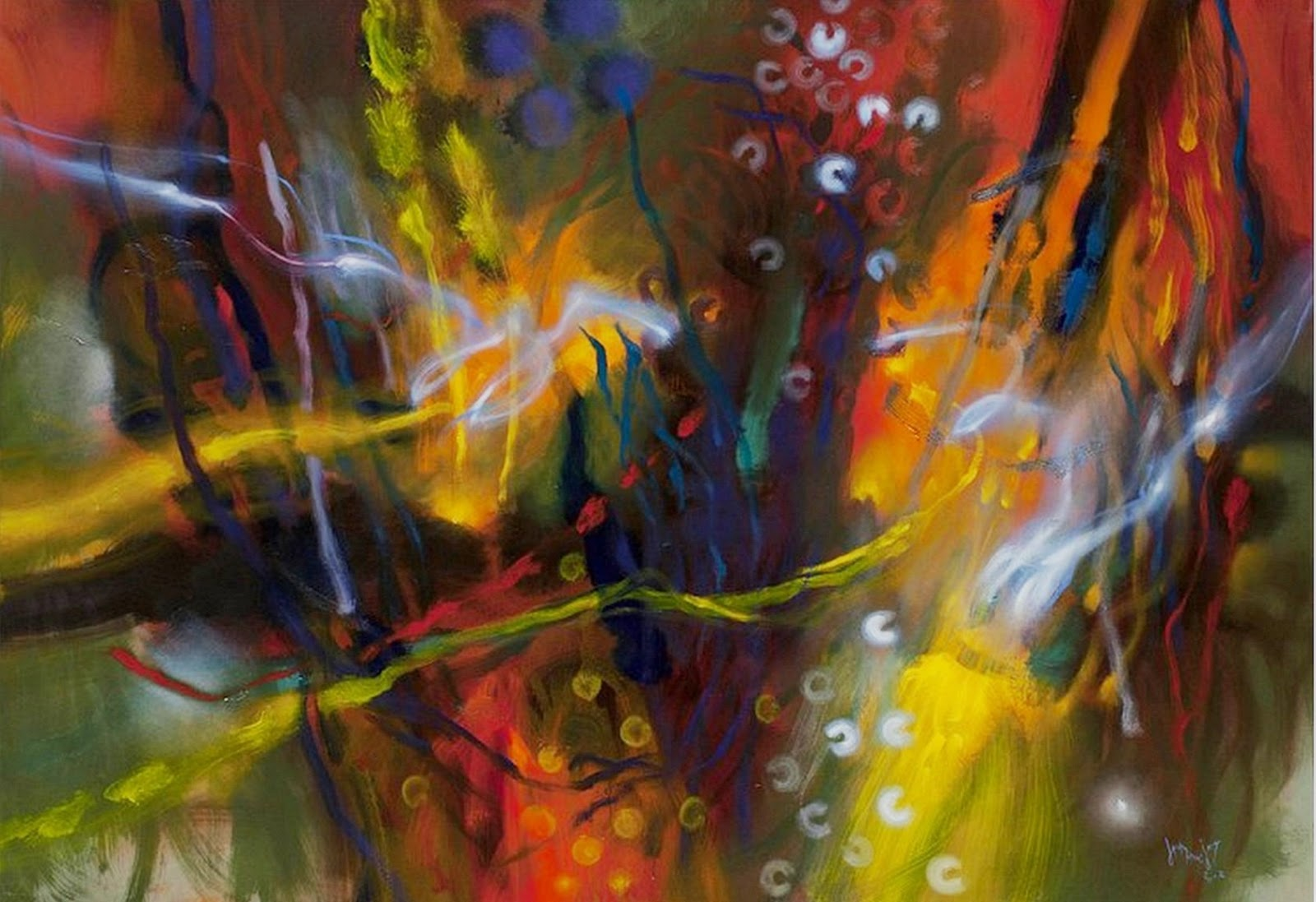 Arte pinturas leo cuadros decorativos modernos for Imagenes cuadros abstractos juveniles