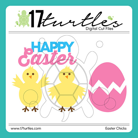 17turtles Digital Cut File Easter Chicks