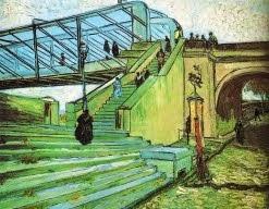 A ponte sobre o Ródano, perto de Trinquetaille em Arles -1888