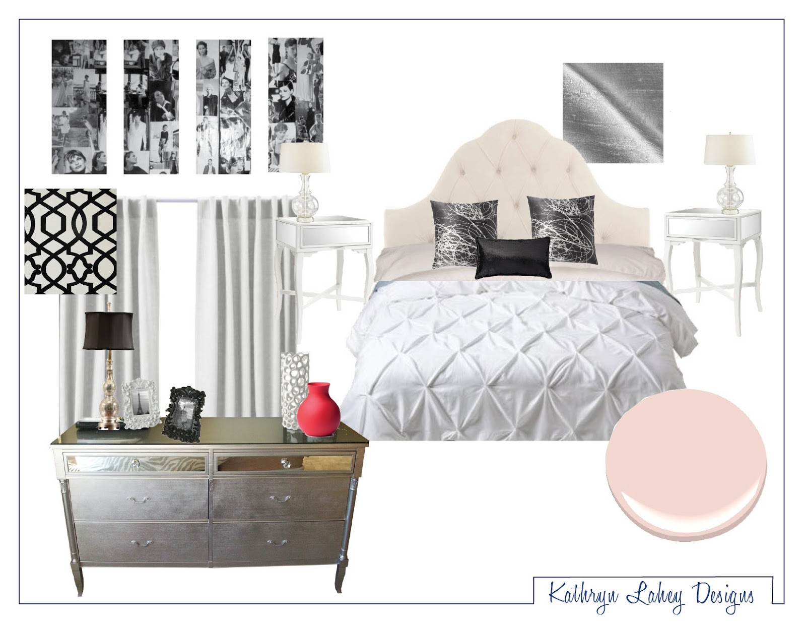 kathryn lahey designs hollywood glam mood board. Black Bedroom Furniture Sets. Home Design Ideas