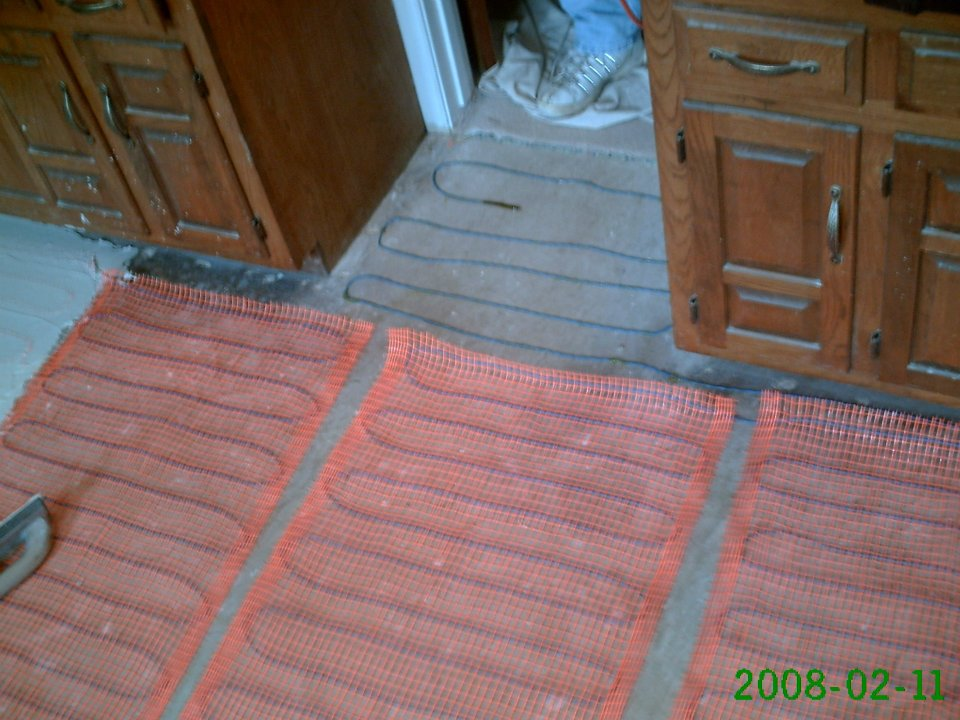 Heated Flooring Under Bathroom Tile Confessions Of A Tile Setter