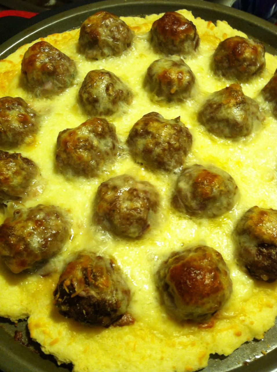 Meatball Pizza {Gluten Free}