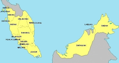 Malaysia Political Map Pictures