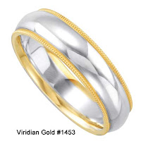 Silver plus Gold Wedding Ring