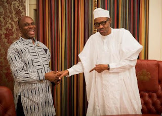 Ex-gov Rotimi Amaechi visits President Buhari in Aso Rock(Photo)