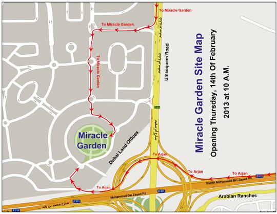 flower garden miracle garden location map