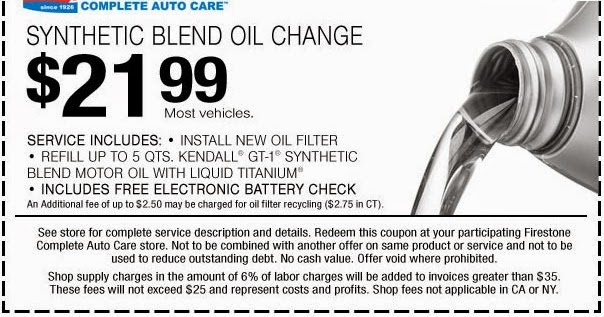 How Much Is An Oil Change At Firestone >> Firestone Oil Change Coupon 2014 Oil Change Coupons