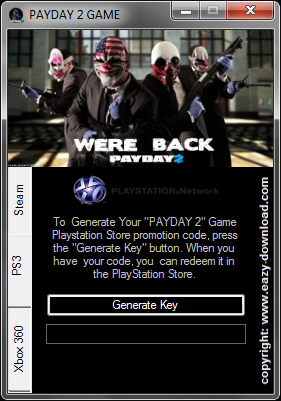 Download PAYDAY 2 Keygen For PS3