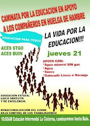 CAMINATA POR LA EDUCACION HACIA BUIN
