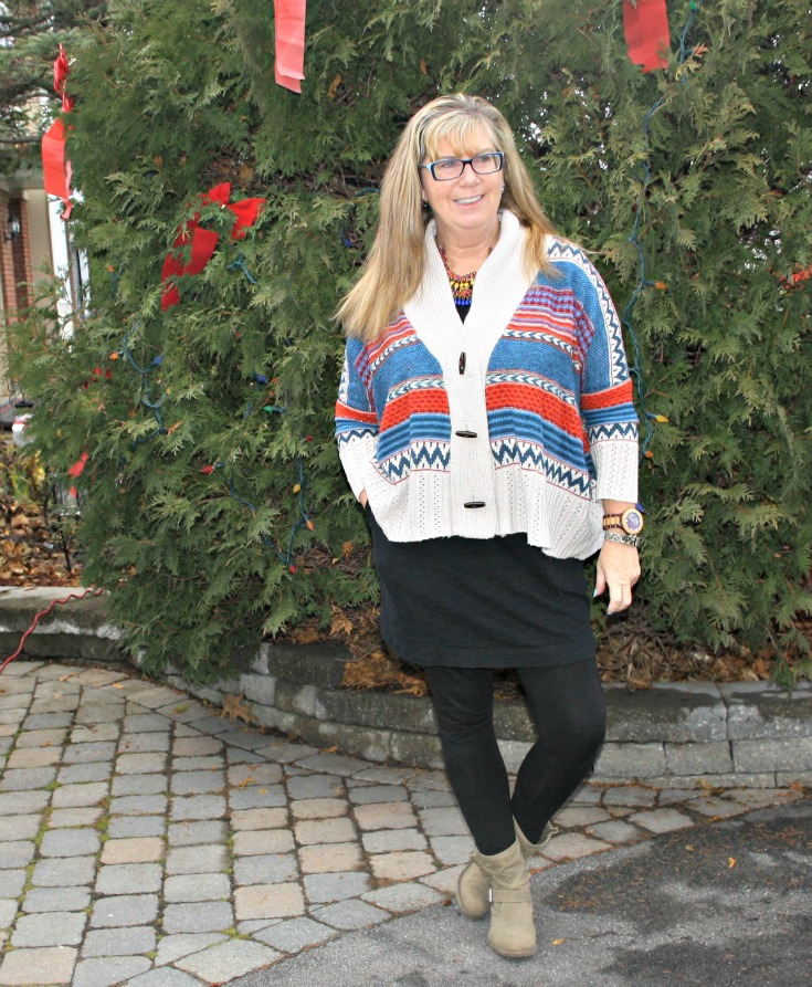 Lookbook Aztec sweater, LBD and my LNBF leggings ( and a george boot) 4
