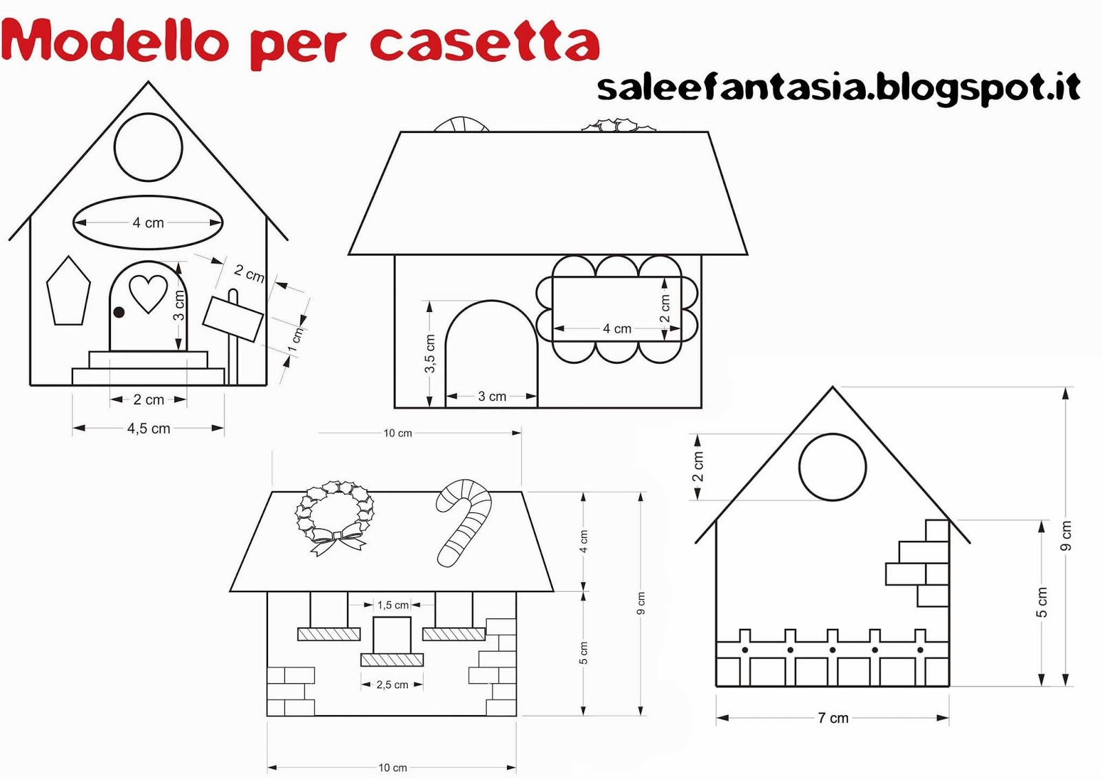 Sale e fantasia casetta di babbo natale for Procedura per costruire una casa