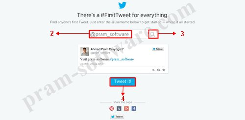 Memasukan Username Twitter
