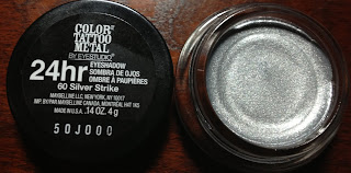 maybelline color tattoo metal silver strike