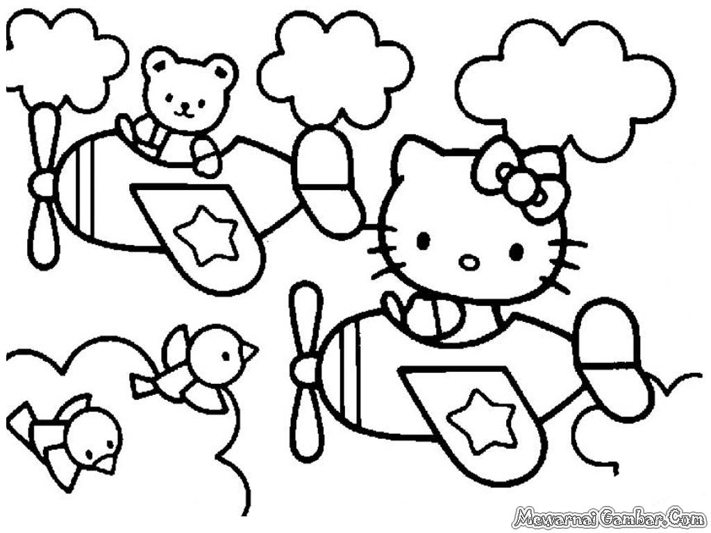 Mewarnai Gambar Hello Kittycom Terbaru Dan Terupdate