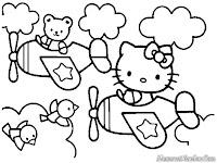 Gambar Gambar Hello Kitty Untuk Diwarnai