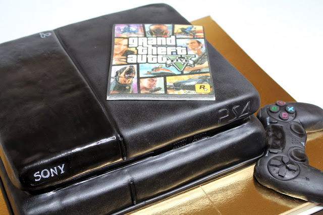 Playstation Console and Pad Birthday Cake - London Cakes