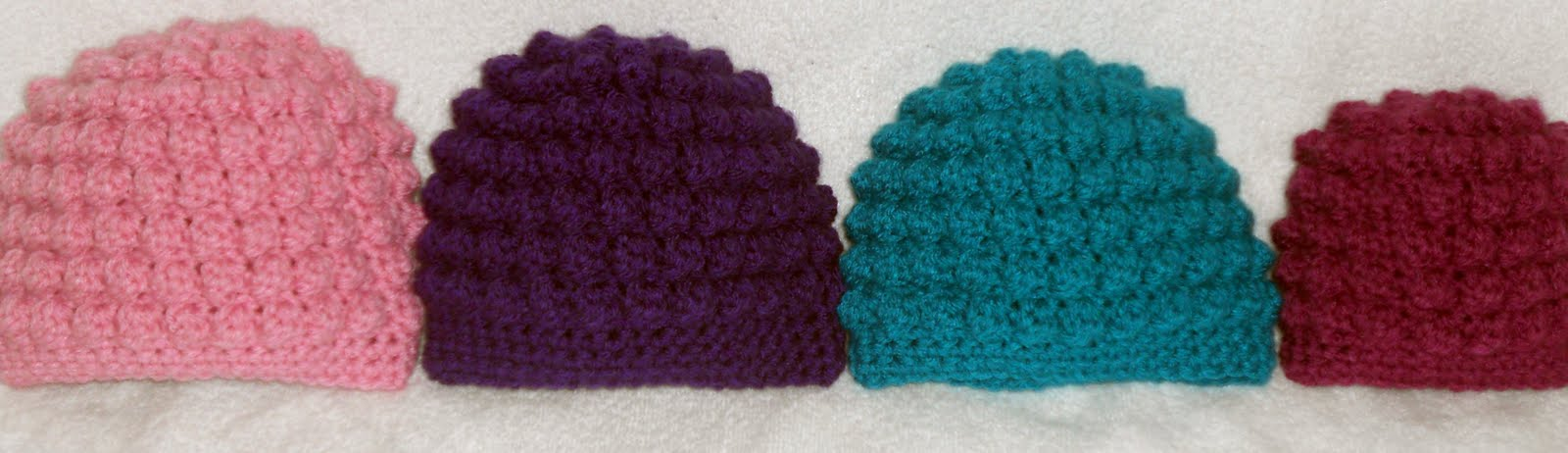 Crafty Woman Creations Free Baby Bumpy Bobbles Beanie Crochet Pattern