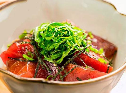 sashimi, atún, receta, receta fácil, alga nori, salsa, soja, Vitaminas, pescado, recetas sanas,