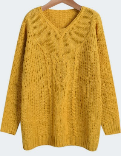 http://www.sheinside.com/Yellow-V-Neck-Long-Sleeve-Cable-Knit-Sweater-p-182375-cat-1734.html?aff_id=1285
