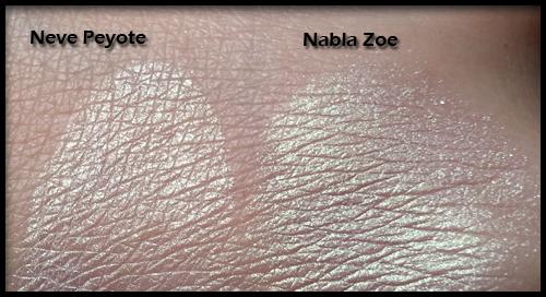 Neve Cosmetics - Ombretti Minerali - Confronto tra Peyote e Zoe di Nabla Cosmetics