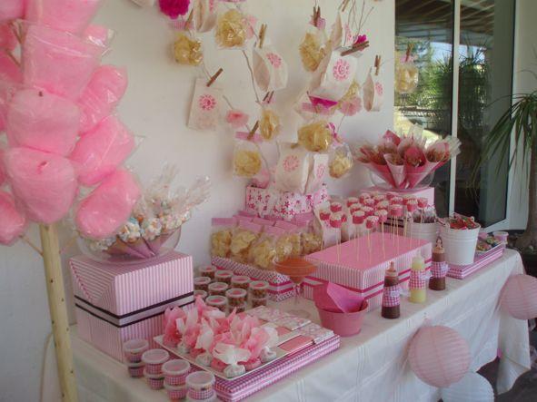 Mesa de dulces ideaskreativasparatuevento for Decoracion para mesa dulce