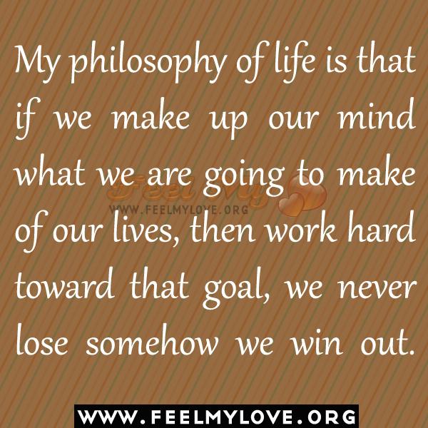 my philosophy of life essay