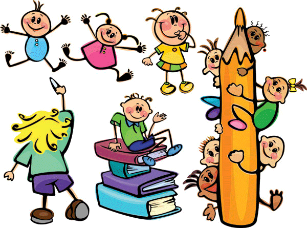 Niños en el colegio para imprimir