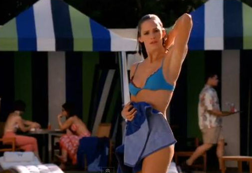 Jennifer garner blue bikini guy  super