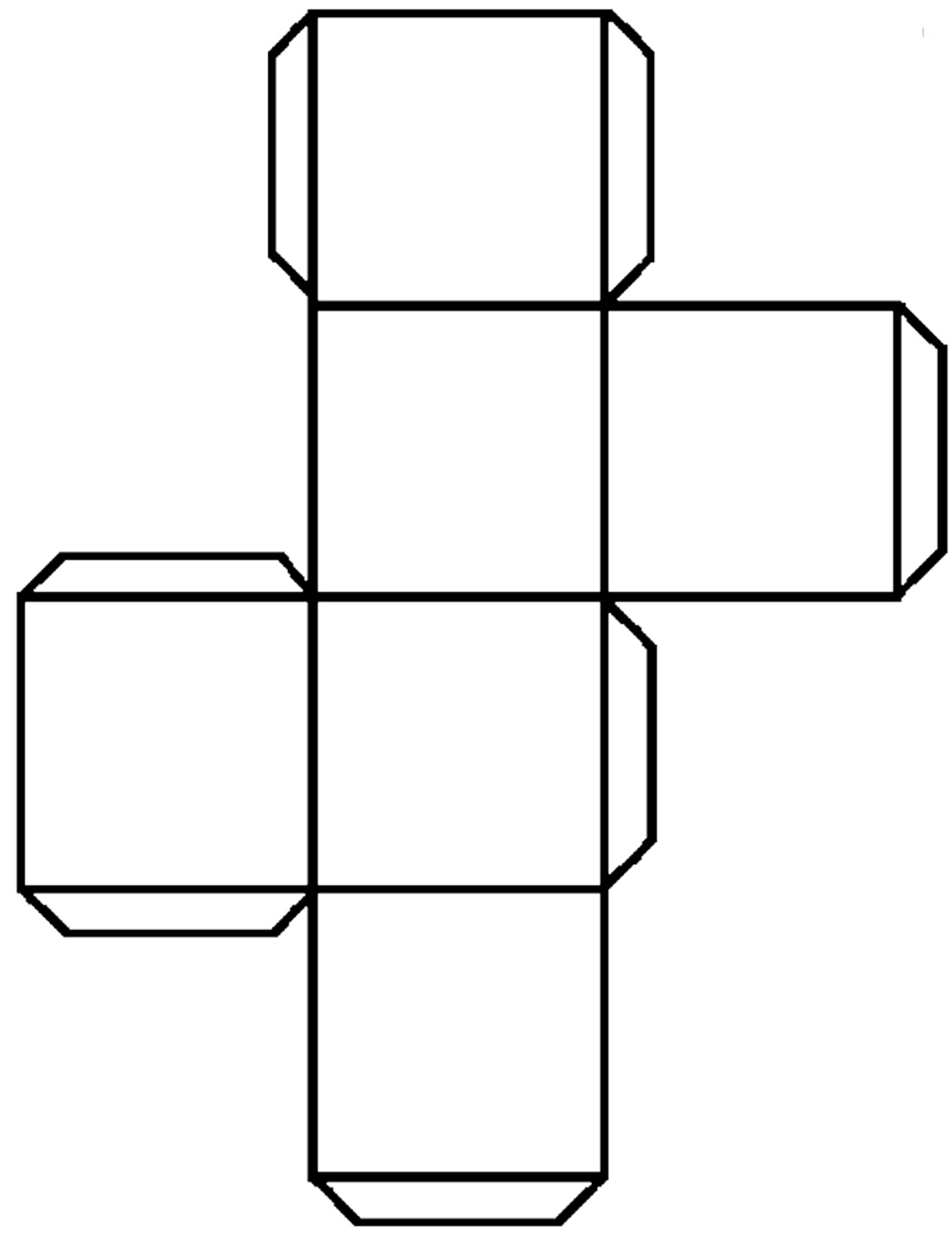 Terrible image intended for cube net printable