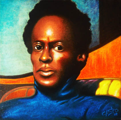 miles davis portrait by paul castro