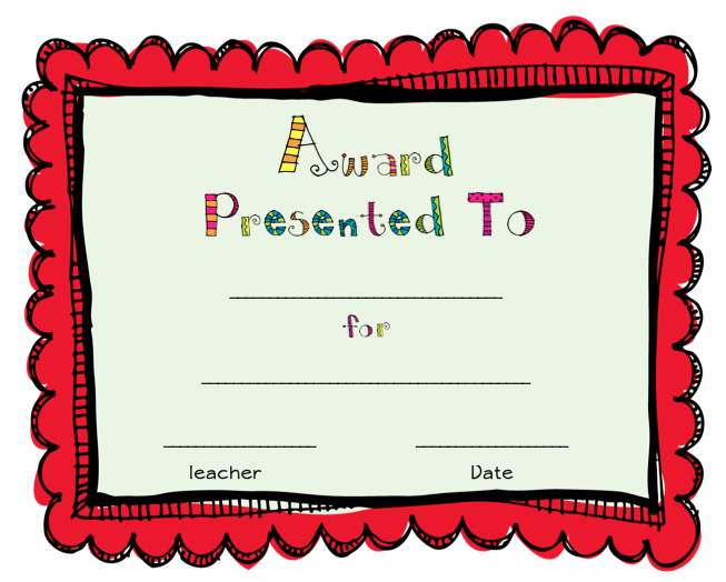 end of the year awards printables just bcause