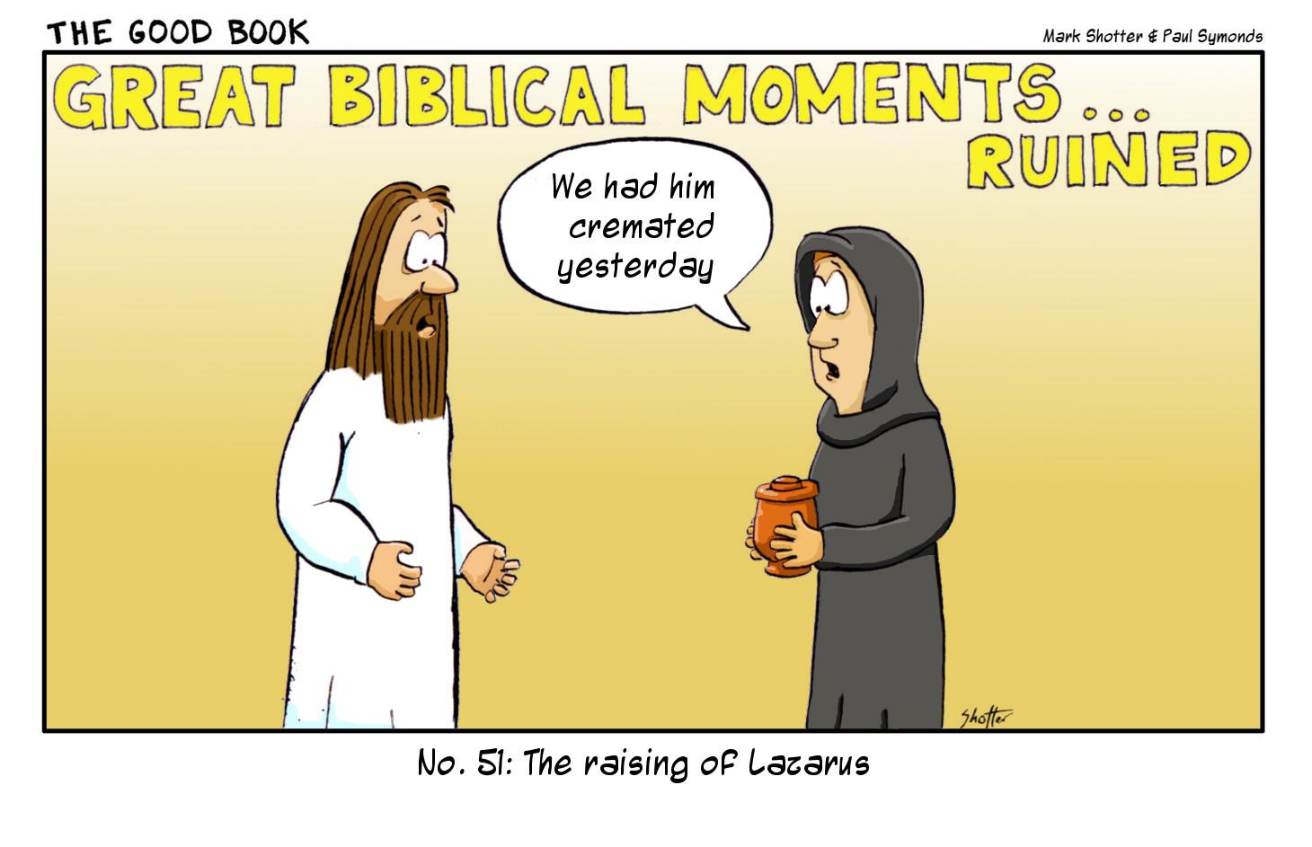 GBMR: Lazarus | The Good Book