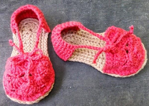 Hand Made Rukodelky Crochet Kids Espadrilles Free Pattern
