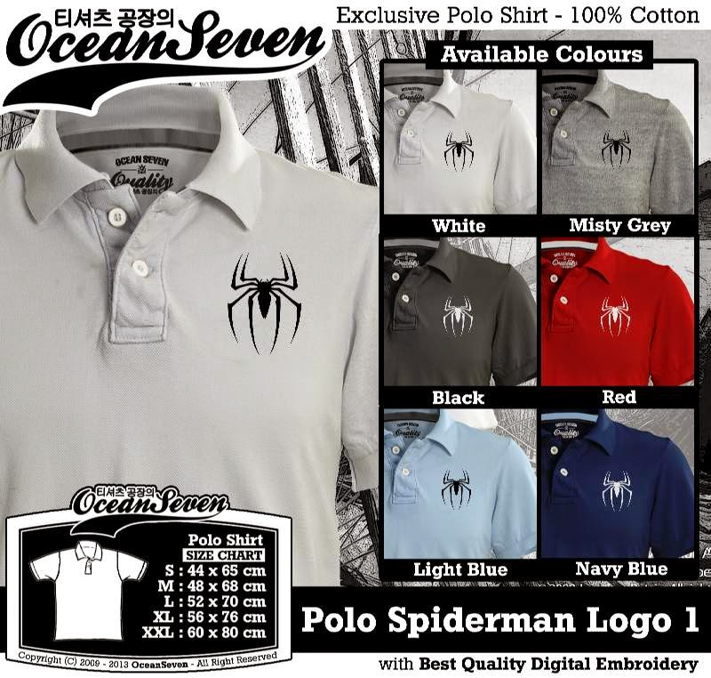 Kaos Polo Spiderman Logo 1