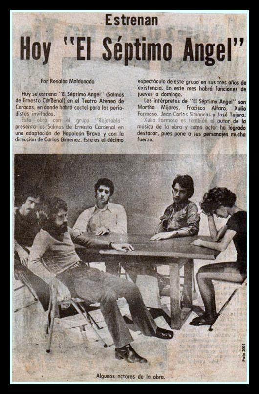 "Carlos Giménez: ""El Séptimo Angel"""