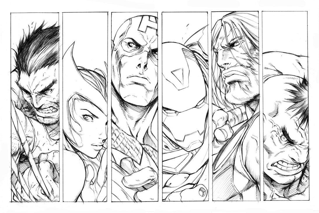Los Vengadores para colorear - Dibujo Views