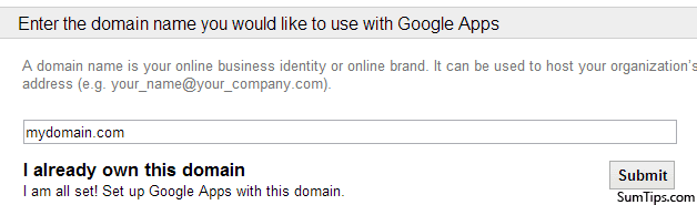Sign Up for Free Google Apps Account & Add Personal Domain