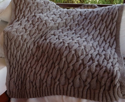 Chunky Aran Cable Blanket - Free Pattern