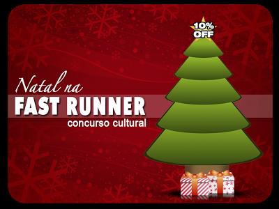 Empresa Fast Runner promove concurso cultural de natal - imagem com árvore de natal e presentes