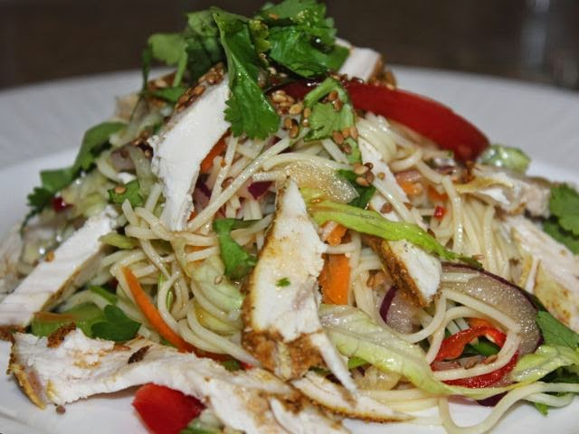 Thai leftover chicken salad