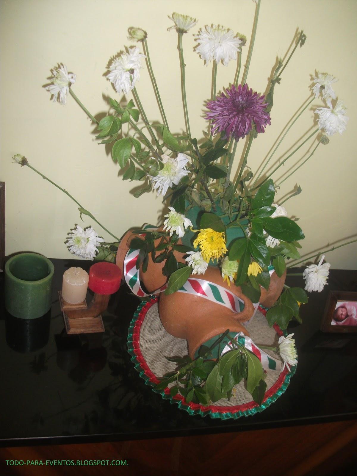 Todo para eventos arreglo floral en ollas de barro for Decoracion de jardin con ollas de barro